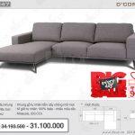 Mẫu sofa Malaysia góc nỉ đẹp trang nhã- NG847