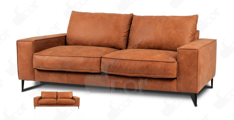 Ghế sofa văng da bò thật 100% nhập khẩu Malaysia- DV848