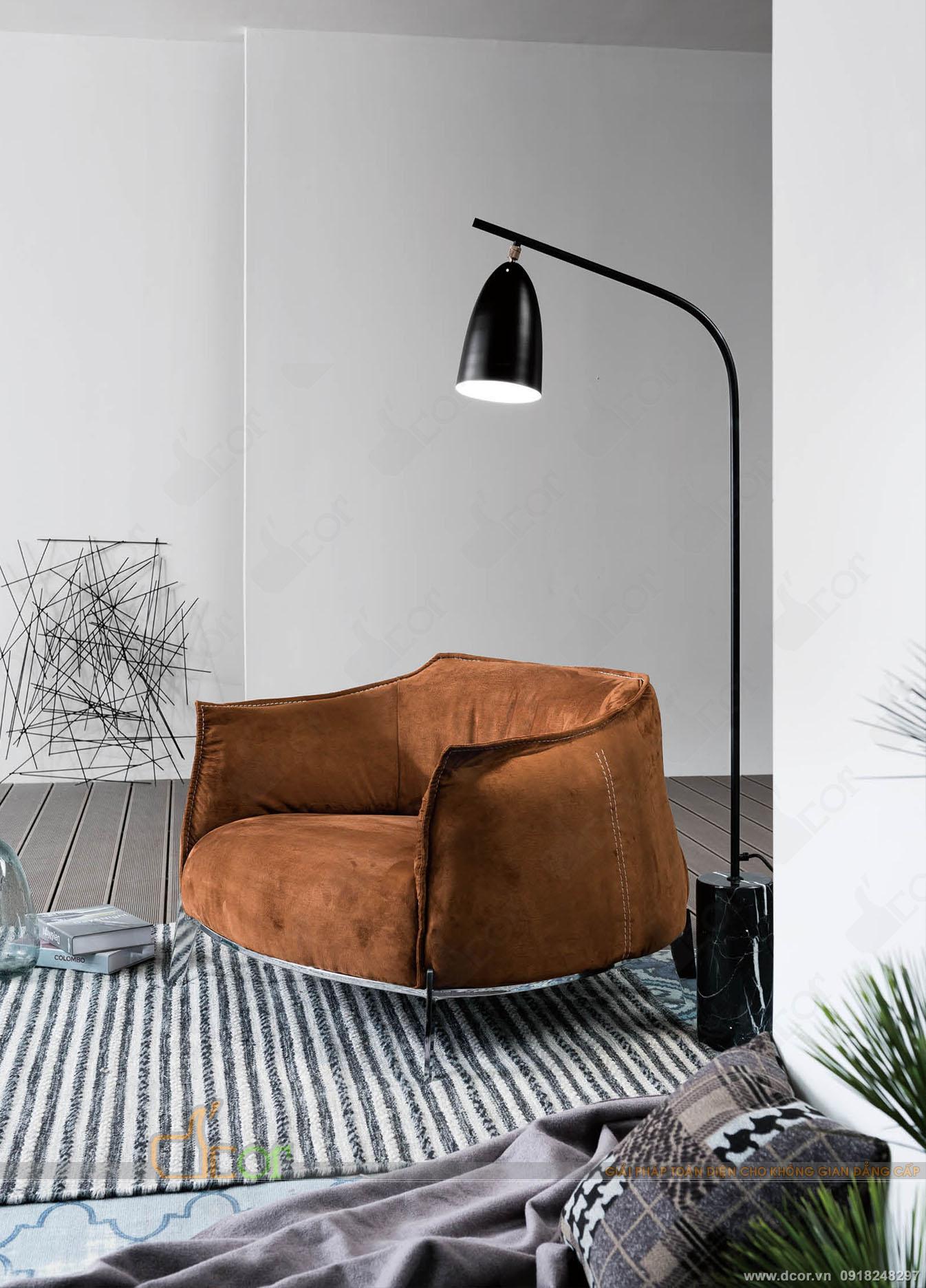 Ghế sofa đơn da- nỉ đẹp hiện đại làm phòng khách nổi bật: AC230