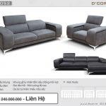 Bạn sẽ hối tiếc nếu bỏ qua mẫu sofa da tinh tế cho phòng khách hiện đại- DG1052 Anna Italia