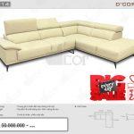 Sofa góc L da thật DG714 nhập khẩu Malaysia mang lại vẻ đẹp hiện đại cho phòng khách