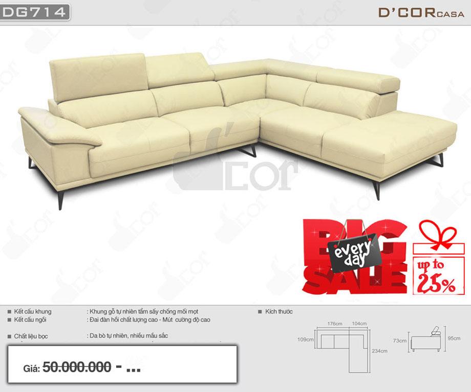Mẫu sofa da nhập khẩu cao cấp hot nhất năm 2018