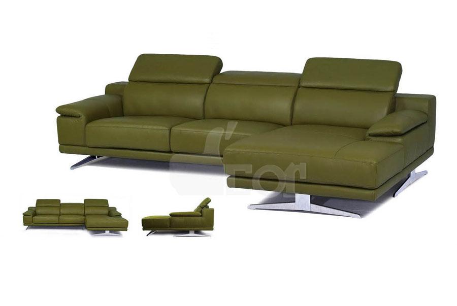 Ấn tượng với sofa da đẹp hiện đại nhập khẩu Malaysia: DG813