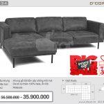 Vẻ đẹp độc đáo đến từ sofa da thật nhập khẩu Malaysia DG834