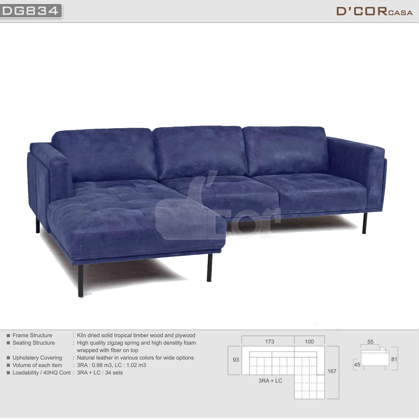Vẻ đẹp độc đáo đến từ sofa da thật Malaysia DG834