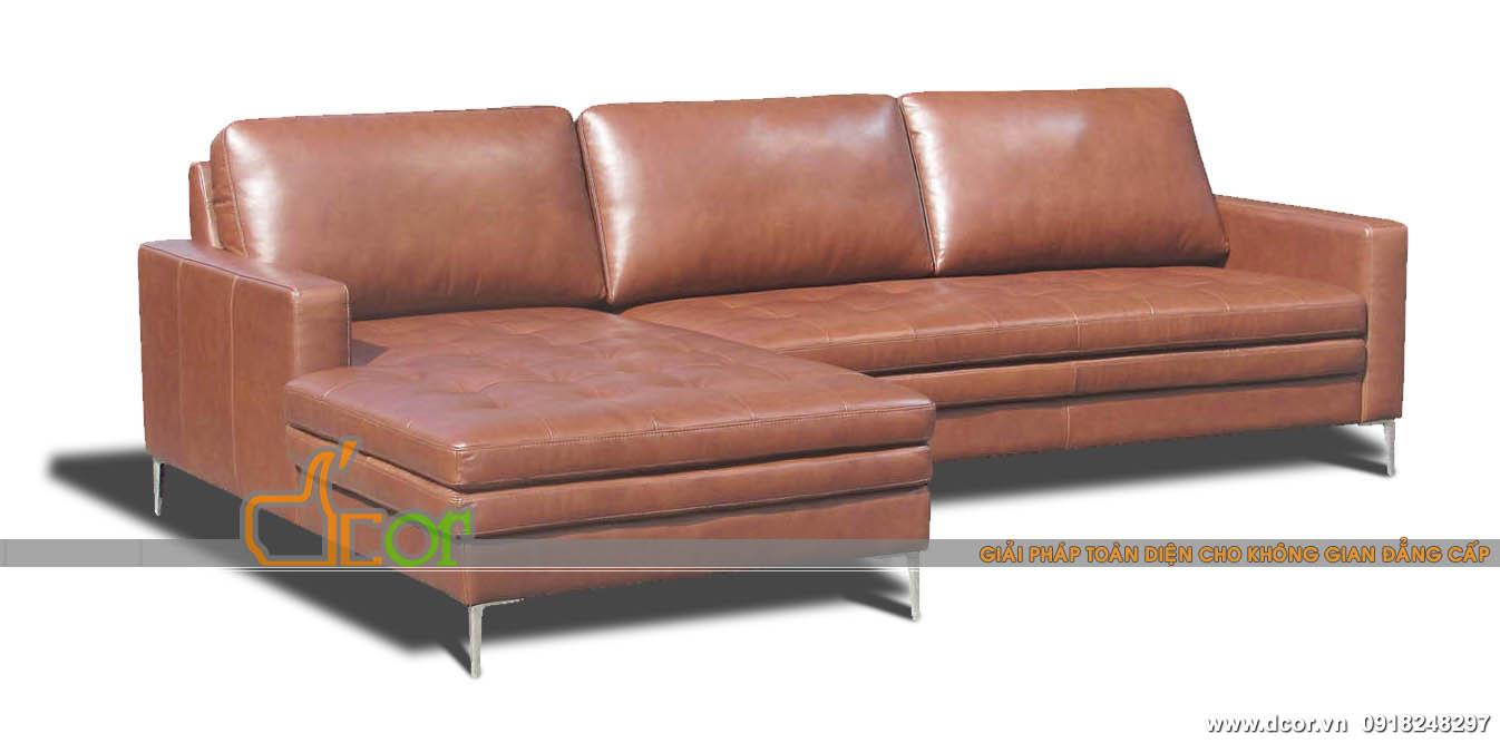 Mẫu sofa góc nhập khẩu Malaysia chất liệu da bóng