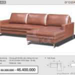 Sofa góc L da thật nhập khẩu Malaysia đẹp hiện đại: DG843