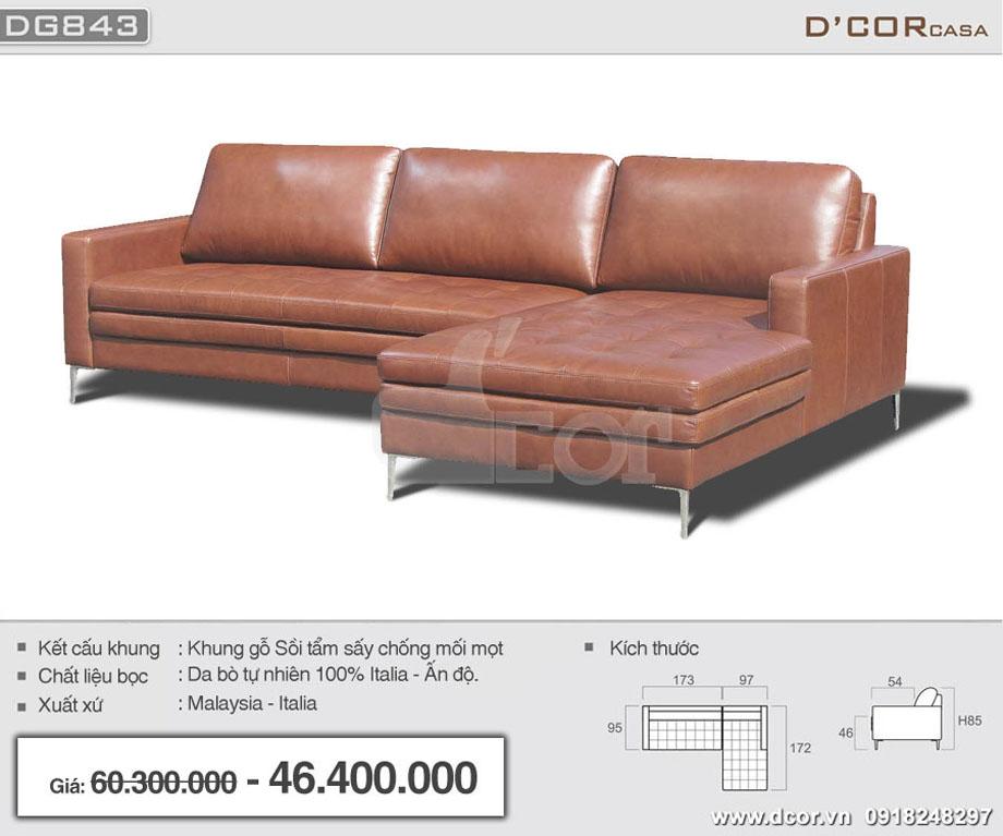 Mẫu sofa da bóng chữ L nhập khẩu Malaysia