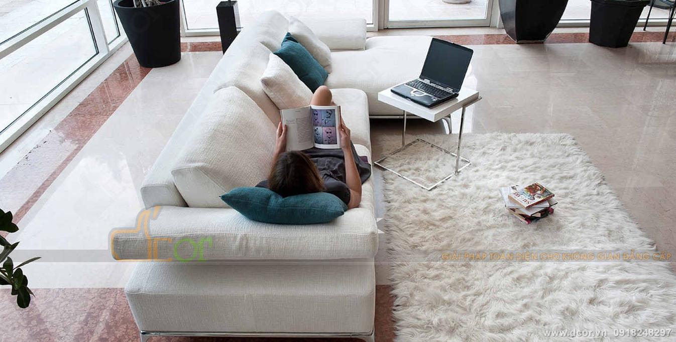 Sốc với vẻ đẹp của sofa Italia da bò thật NG1050