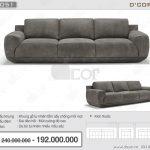 Vietnamarch cháy hàng với mẫu sofa da nhập khẩu DV1051- Saporini – King – Italia
