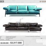 Tươi tắn với mẫu sofa văng nỉ- da cao cấp cho phòng khách sang trọng, hiện đại