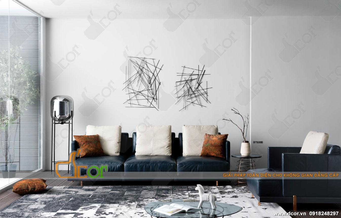 Choáng váng trước vẻ đẹp của sofa văng da khung kim loại đẹp sang trọng: DV616