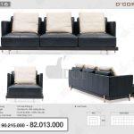 Kích thước sofa chuẩn ứng với các kiểu dáng sofa phổ biến hiện nay