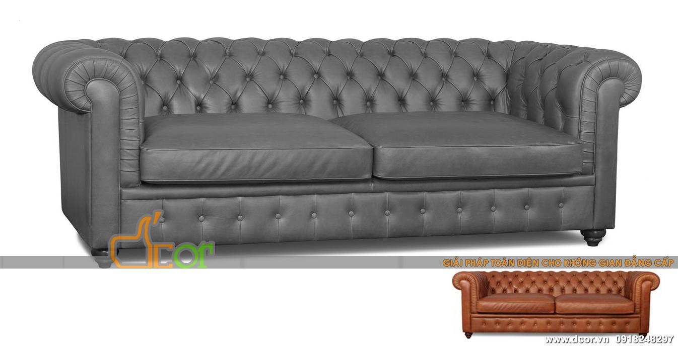 Mẫu sofa văng nhập khẩu Malaysia phong cách tân cổ điển