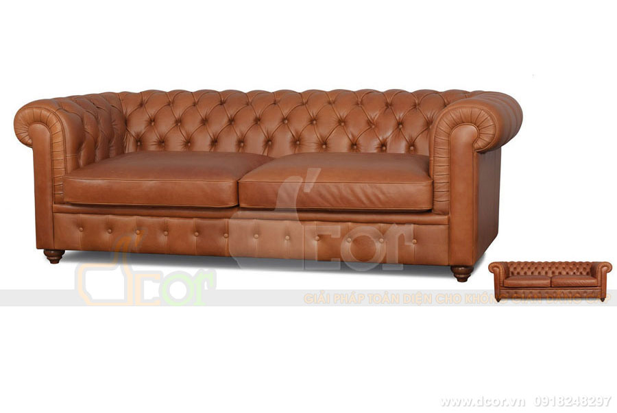 Sofa da thật Malaysia nhập khẩu DV 807