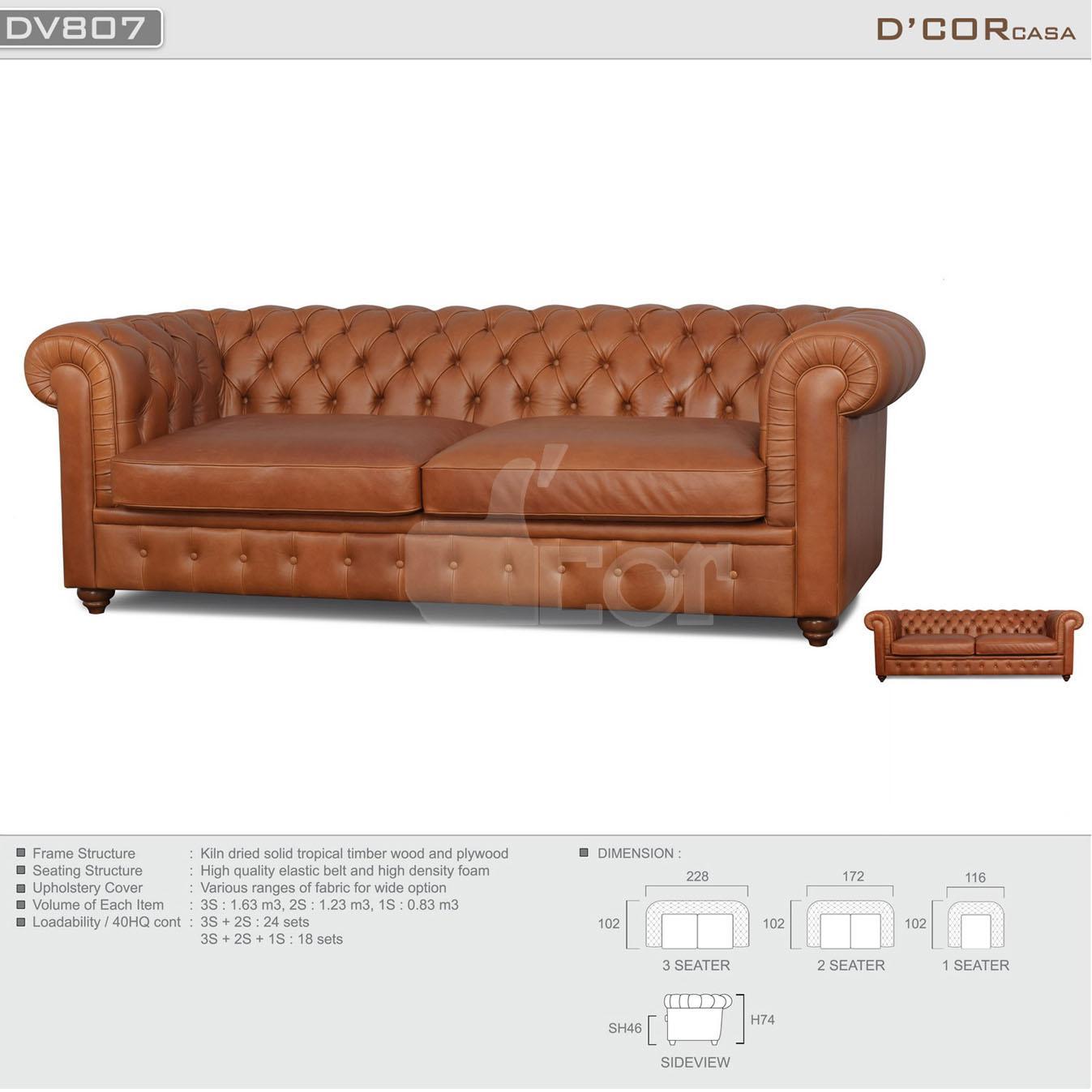 Sofa Malysia DV 807