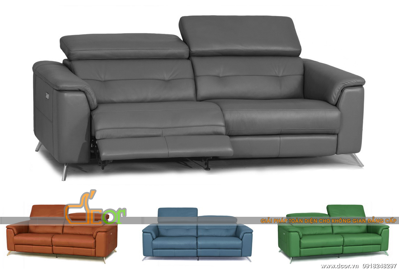 Mẫu sofa da hiện đại nhập khẩu Hàn Quốc với nhiều màu sắc