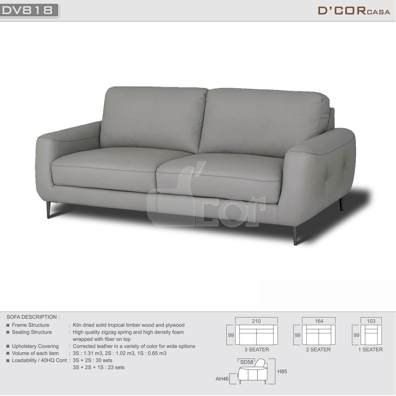 Mẫu sofa văng da thật nhập khẩu Malaysia cho phòng khách nhỏ đẹp mê hồn