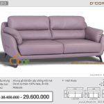 Ghế sofa văng da thật nhập khẩu Malaysia giá rẻ nhất thị trường Hà Nội: DV820