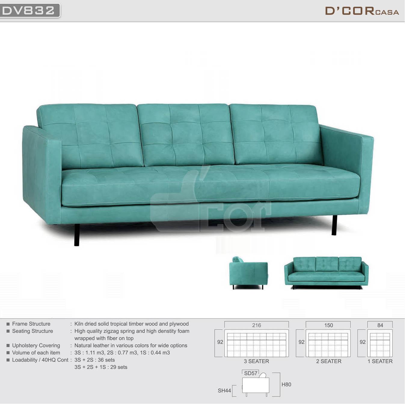 Sofa Malaysia da thật đẹp hoàn hảo DV832