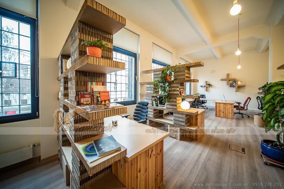 Độc đáo với thiết kế nội thất văn phòng Co-Working Space bằng giấy tổ ong tại Séc