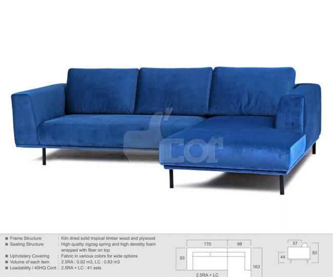 mẫu sofa nỉ nhâp khẩu malaysia đẹp