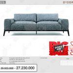 Sofa văng đẹp, hiện đại, giá rẻ : NV605 cho phòng khách nhỏ hẹp