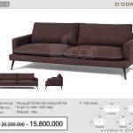 Bật mí vẻ đẹp trang nhã, thanh lịch hoàn hảo của Sofa Malaysia NV803