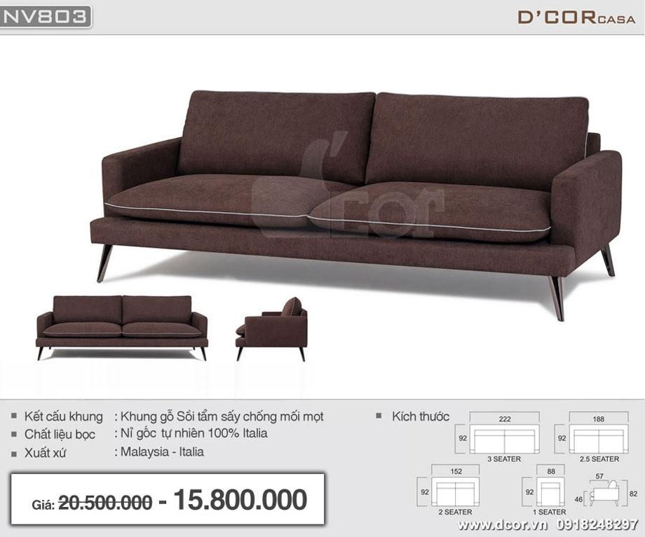 Kích thước Sofa Malaysia NV803