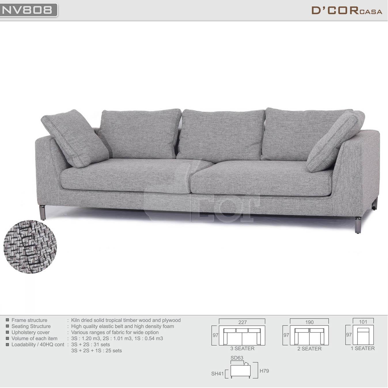 Mẫu sofa văng nỉ đẹp giá rẻ thịnh hành nhất năm 2018