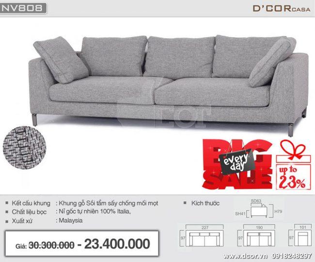 sofa văng malaysia nhập khẩu cao cấp NV808
