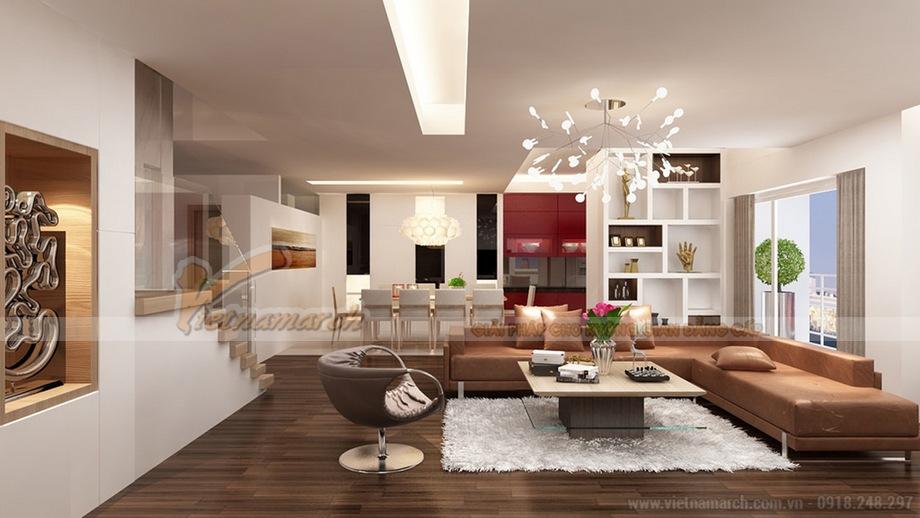 Thiết kế nội thất biệt thự đơn lập Kim Cương The Manor Central Park