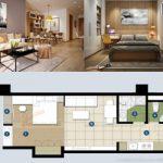 Thiết kế nội thất cho căn hộ 1 phòng ngủ tại CC The Manor Central Park Nguyễn Xiển