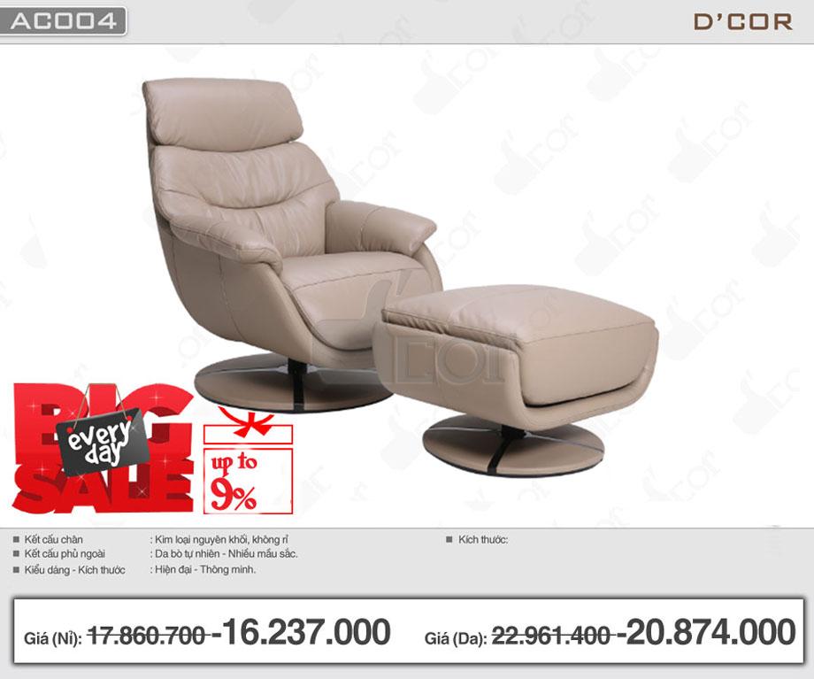 Ghế armchair đẹp hiện đại giá rẻ nhìn là mê: AC004