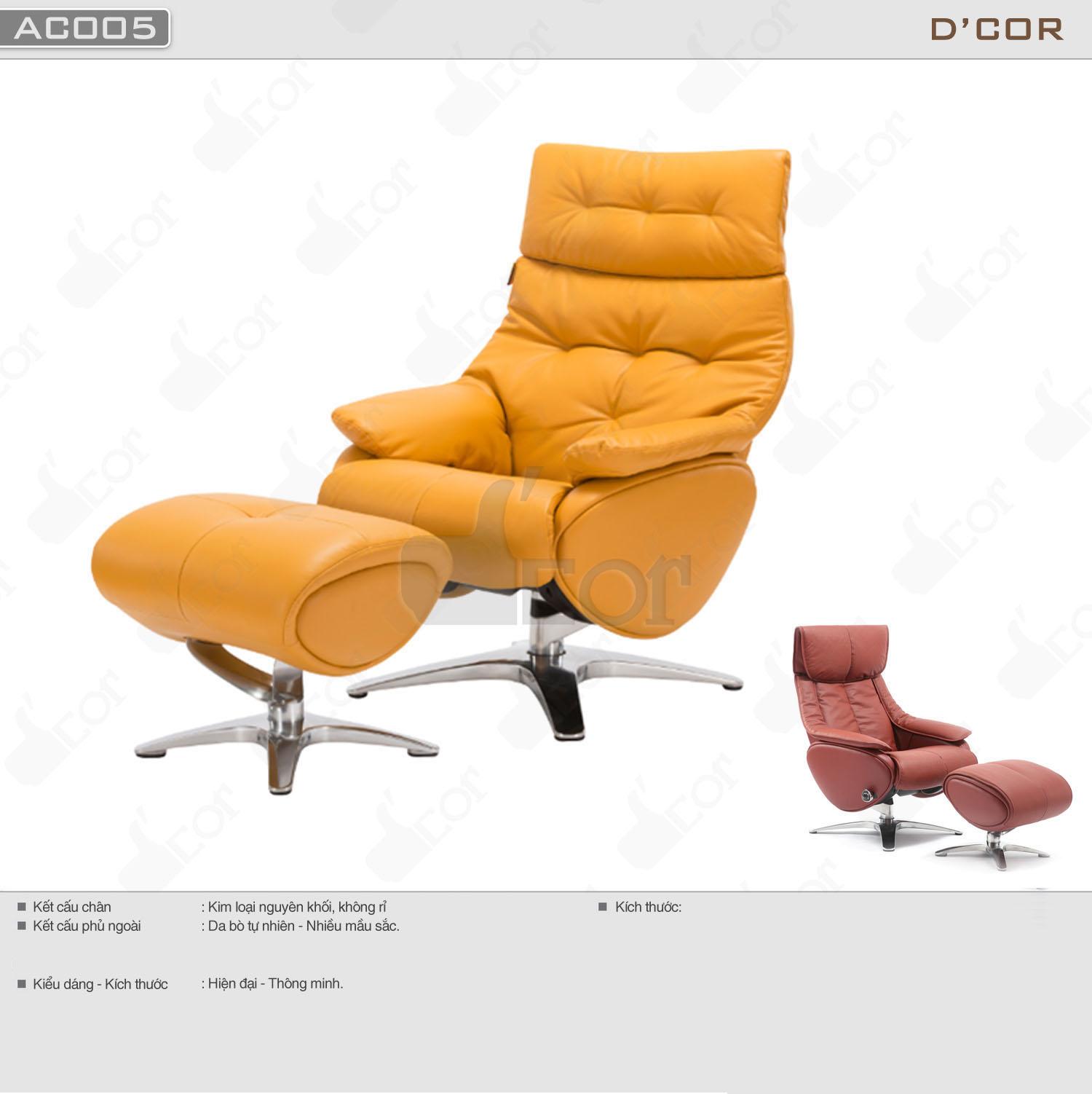 Mẫu ghế armchair thư giãn tuyệt đối cho phòng khách tươi trẻ: AC005