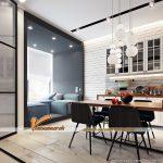 Gợi ý thiết kế căn hộ chung cư nhỏ xinh nhưng hiện đại cho vợ chồng trẻ