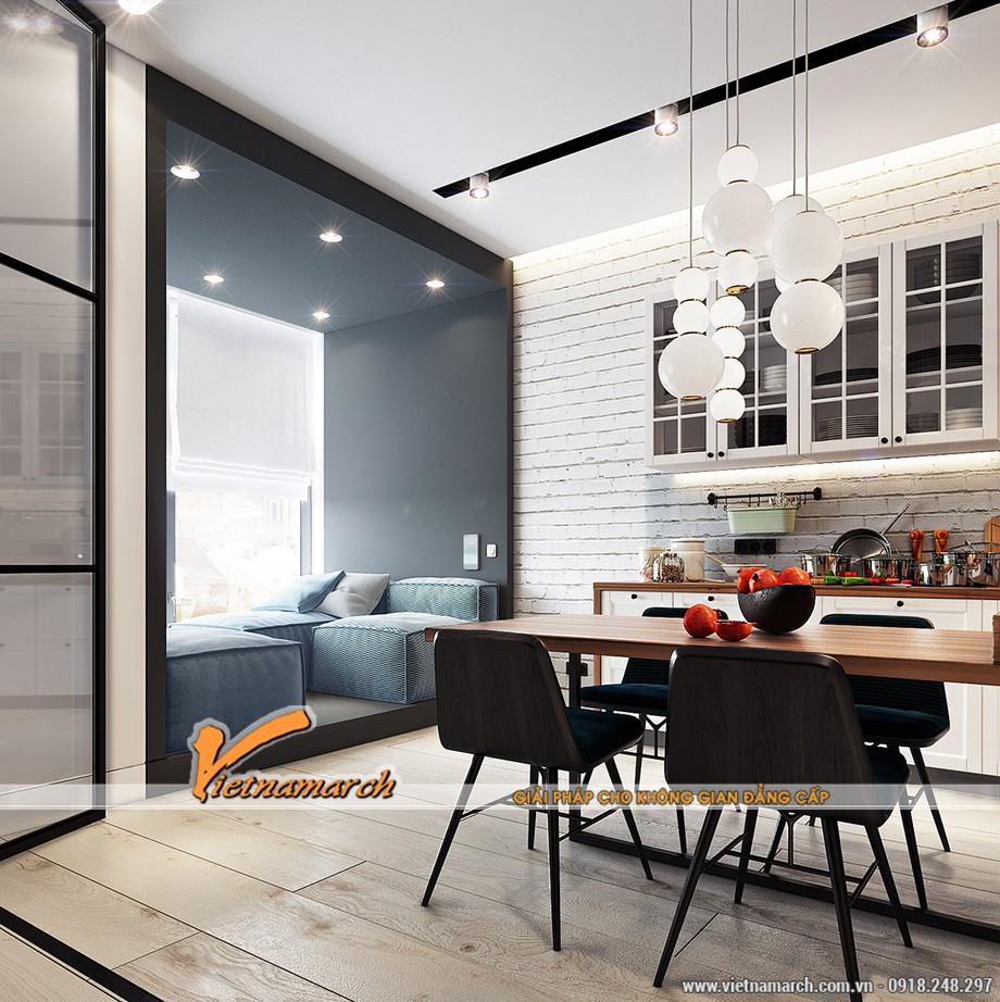 Những căn hộ có diện tích nhỏ nên được bố trí cửa sổ rộng, sử dụng cửa kính để thu được nhiều ánh sáng