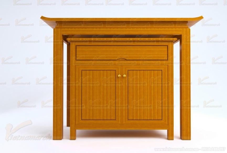 Bàn thờ đứng gỗ gõ đỏ đẹp hiện đại