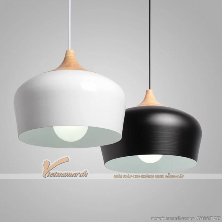 Mẫu đèn thả hiện đại cho phòng bếp