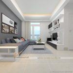 Phương án thiết kế nội thất căn hộ 2 phòng ngủ tòa B chung cư Thống Nhất Complex