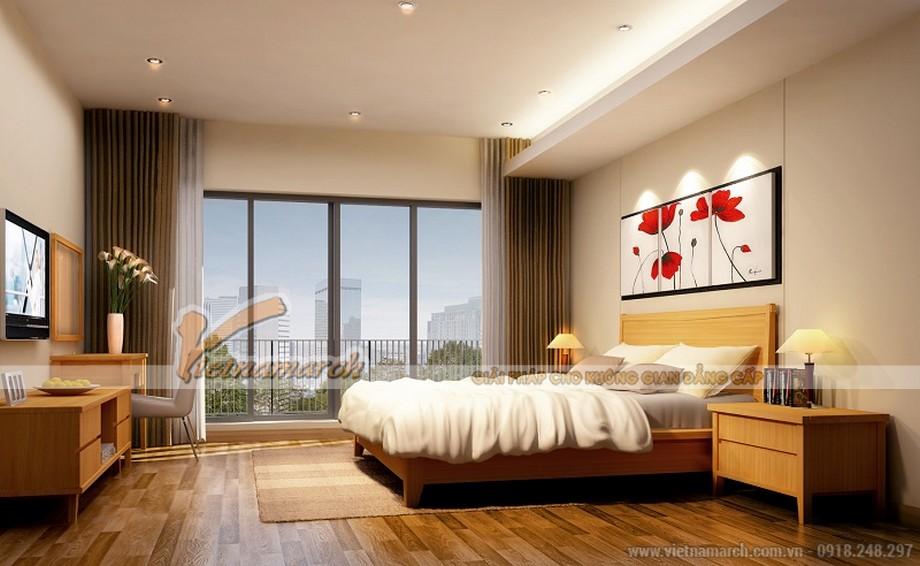 Thiết kế nội thất phòng ngủ 1 căn hộ mẫu chung cư Thống Nhất Complex 82 Nguyễn Tuân