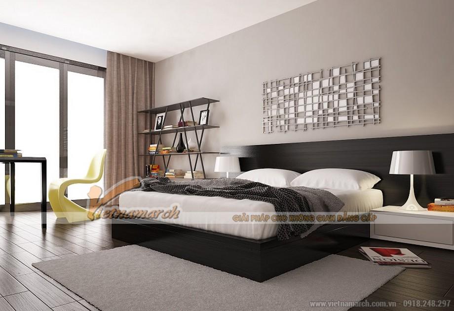 Thiết kế nội thất phòng ngủ căn hộ mẫu chung cư Thống Nhất Complex 82 Nguyễn Tuân