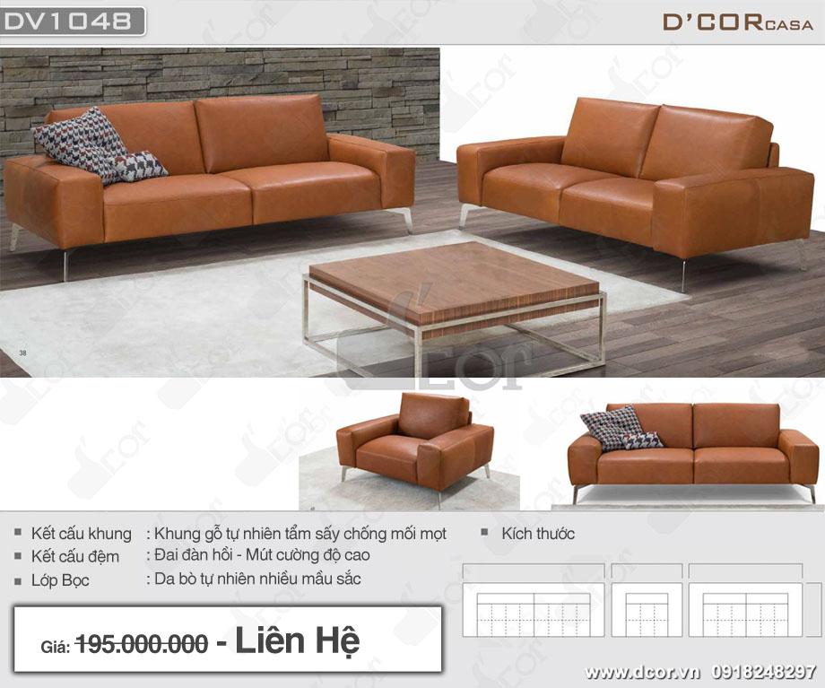 sofa da nhập khẩu Italia