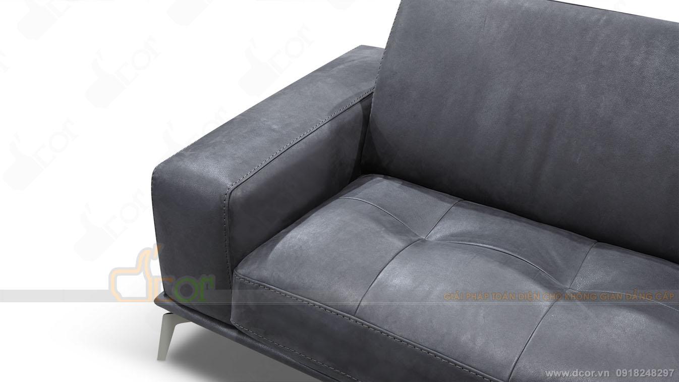 Đường nét trên Sofa da nhập khẩu cao cấp :DV1008 Brera - Italia