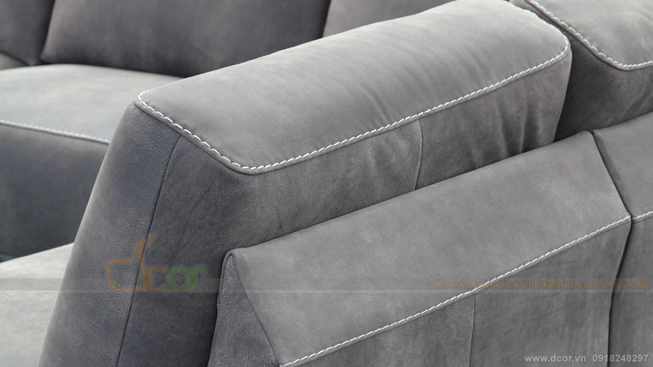Sofa góc L da thật nhập khẩu cho phòng khách đẹp hiện đại bậc nhất:  DG1005- Artu - Italia