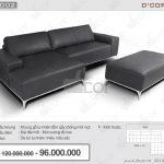Mẫu sofa da nhập khẩu đẹp hiện đại mới nhất 2018: DG1002- Saporini – Artemide – Italia