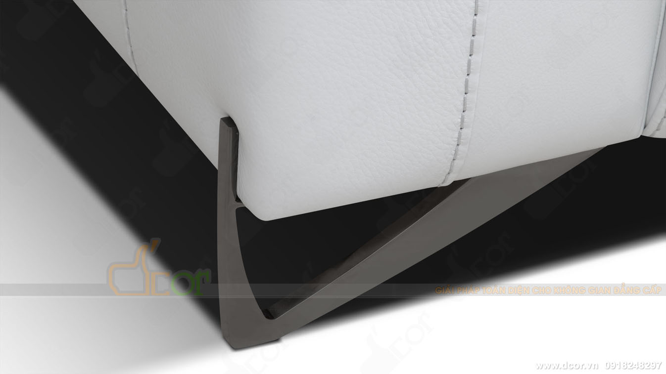 Sofa văng da thật nhập khẩu DV1006-Saporini (Rossini) - Boheme - Italia đẹp đến từng centimet