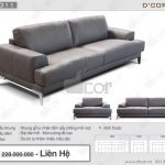 Đốn tim với mẫu sofa văng da thật nhập khẩu đẹp hiện đại : DV1011 Saporini – Capri – Italia