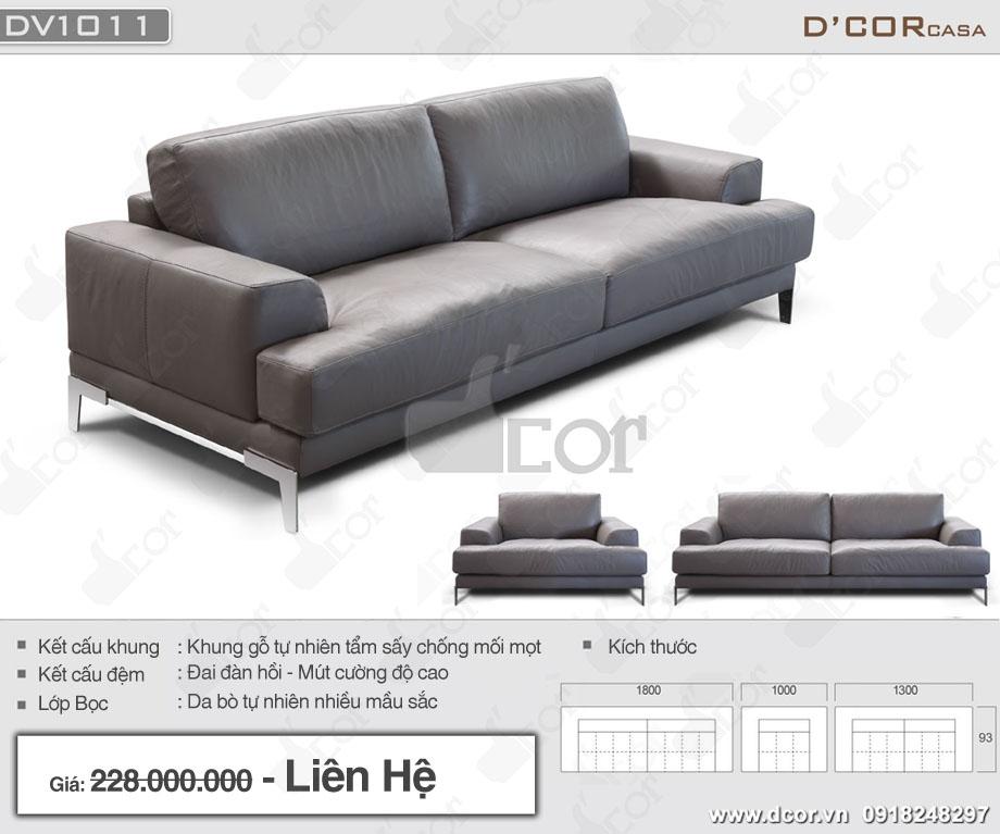 Thông số sản phẩm sofa văng da thật DV1011 Saporini - Capri