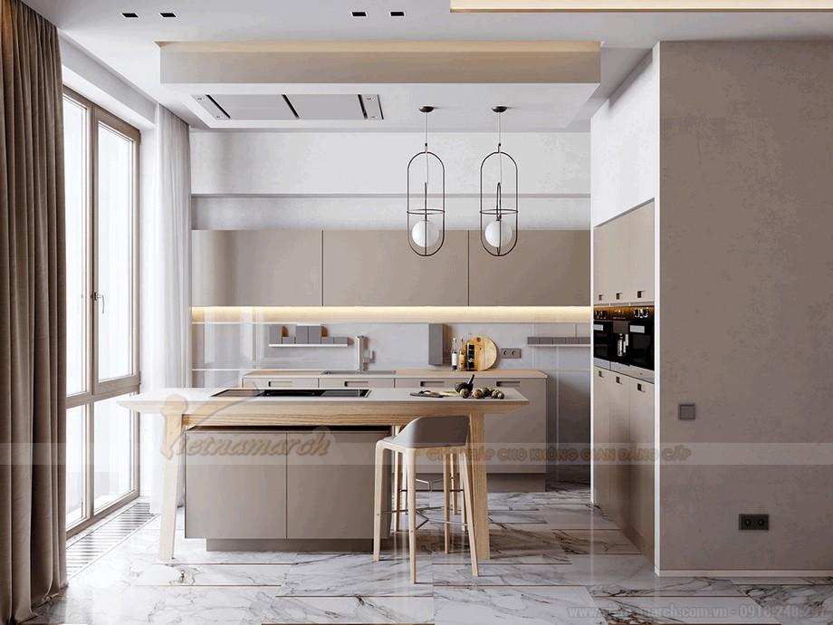 Không gian phòng bếp đầy sang trọng